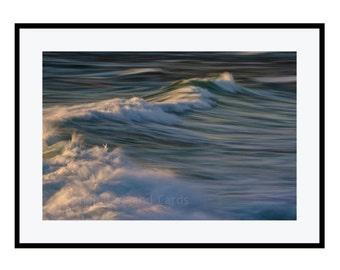 Large Coastal Wall Art, Seascape Art, 20x30 Photography Print, Teal Nautical Decor, Waves Print, Ocean Lover Gift