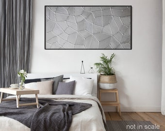 Silver nice web, acrylic painting ,modern, 16x32 inches ,abstract painting,wall art , painting on canvas ,40x80 cm,silver,cuadros abstractos