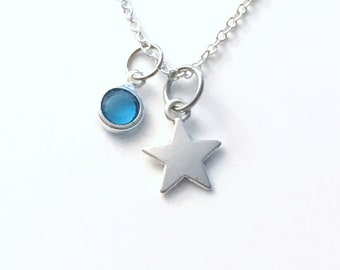 Tiny Star Necklace, Teenage Girl Jewelry, Birthday Gift for Teen Daughter, Silver Charm Teenager Confirmation Boy 16 18 20 22 24 30 inch