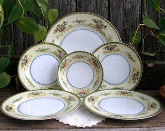 Six Piece Hand Painted Meito China / Made in Japan