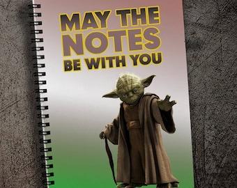 Star Wars Notebook Yoda Notepad A4 Notebook with Yoda Star Wars Gift Notebook Master Yoda Notepad Spiral Notebook Force Notebook A5 Spiral