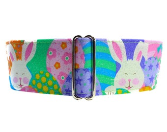 Easter Martingale Collar, Easter Bunny Dog Collar, Easter Dog Collar, Easter Rabbit Martingale Collar, Easter Egg Martingale Collar
