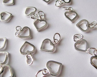 small open heart charm