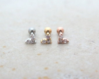 Dainy heart  Piercing/Tragus Earring/Cartilage earring/Tragus Piercing/CZ piercing/Cartilage piercing/Helix Earring/conch piercing/Piercing