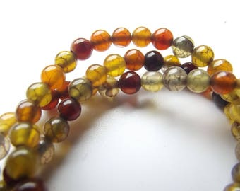 colored 4 mm PREETI 910 dragon vein agate 92 beads