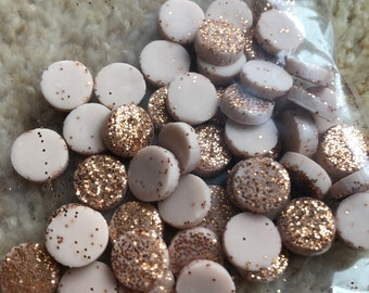 Copper Glitter - 90mm Round Polymer Clay Earrings