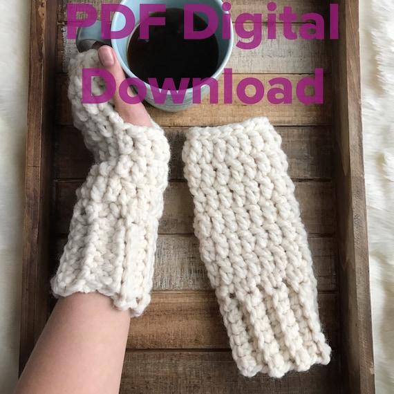 Chunky Crochet Fingerless Gloves Pattern Penelope Gloves Pdf