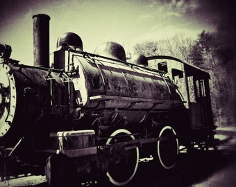 Train Print Vintage Train Photography, Train Decor