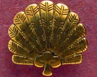 Hawk Feather Fan Button - B618