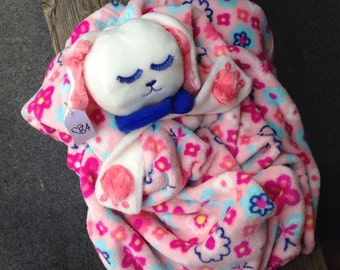 Lullaby Blanket Baby, Bunny blanket, security blanket, baby blanket, baby shower gift, blanket with head, security blanket, new baby, baby
