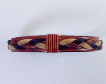 Braided Horsehair leather bracelet