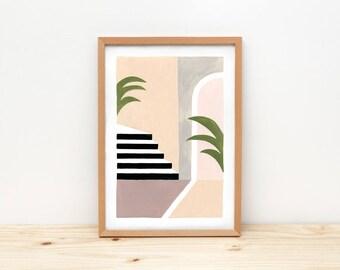Interior I - illustration by depeapa, print, poster, A4 wall art, wall decor