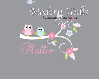 Vinyl Wall Decals Wall stickers Branch for nursery