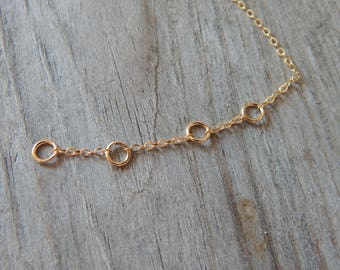 EXTENDER CHAIN for any Necklace from my shop! Gold filled or Sterling silver