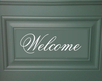 Front Door Welcome Vinyl Decal