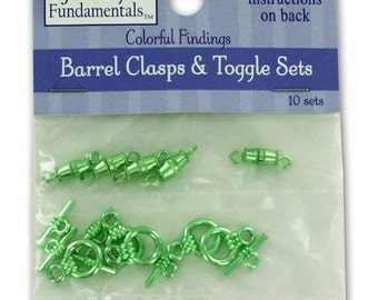 Christmas Green Toggle Clasps and Barrel Clasps