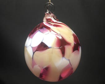 Hand Blown Glass Christmas Ornament (color name: Joy to the World)