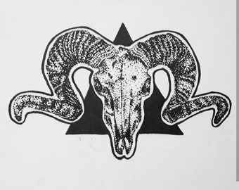Ram skull print
