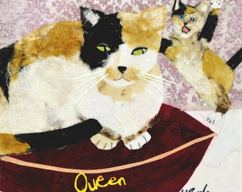 Queen for a Day, Fine Art Print, cats, Mother's Day