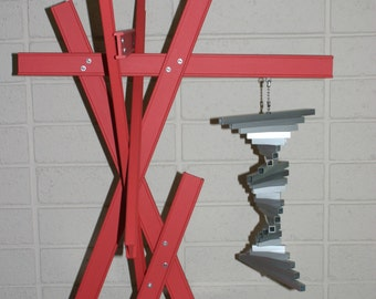 I-Beam Construct #2 kinetic wood and aluminum sculpture (local delivery only)