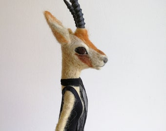 Art doll, doll art doll collection, the needle felted sculpture Antelope