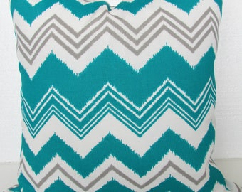TEAL PILLOWS Teal Outdoor Pillows Teal Pillow Covers Turquoise Throw pillows Gray Outdoor Pillow Covers 16 18x18 20 Turquoise Outdoor Pillow