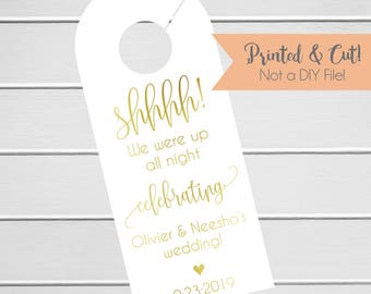 Wedding Door Hanger, Custom Hotel Door Hangers, Destination Wedding Welcome Bag  (DH-029-F)