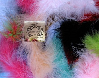 Bits N Pieces Grab Bag Remnants {Maraboa Boa Feathers}