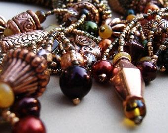 Autumn Spice--Elegant Drape\/Curtain Tie-Backs.