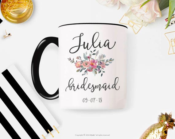 Bridesmaid Proposal, Bridesmaid Gift, Bridesmaid Mug, Bridesmaid Coffee Mug, Custom Mug, Personalized Coffee Mug 30W