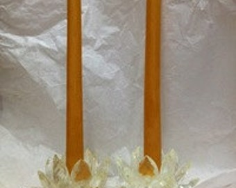 Beeswax Pair of 10 inch tapers 8-10 hour burn time