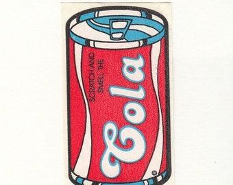 SALE Vintage Mello Smello Scratch and Sniff Cola Soda Sticker - 80's Scented