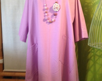 """Tunic style """"Lagenlook"""" you from 42 to 48 purple"""