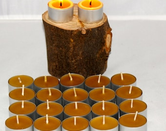 20 Organic Pure Beeswax Tea Lights. Asthma relief for 6 hours.