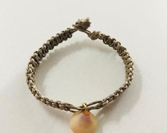 Shell always be with you hemp bracelet/anklet/necklace