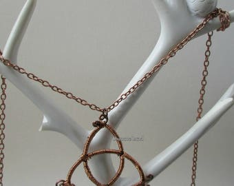 Triquetra ~ Trinity Knot ~ Wirework Celtic Necklace