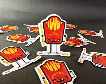 French Fries (Chips) vinyl sticker