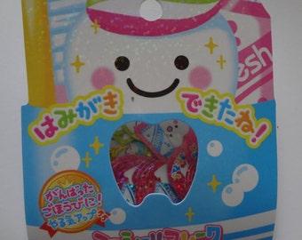 Japan Crux kawaii Tooth Clean 52pcs stickers flake