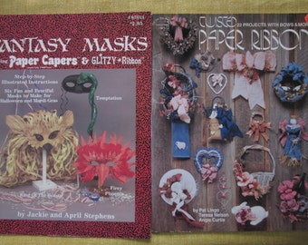 Twisted Paper Ribbon,Fantasy Masks, Bows and More,Twisted paper craft boolets, 28 projects