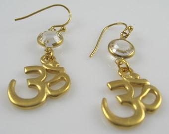 Om Charm Earrings (Large)