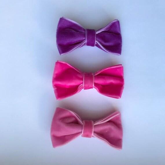 Candy 3 Pack - Luxe Velvet Medium Bow