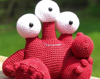 Crochet Amigurumi Red Monster