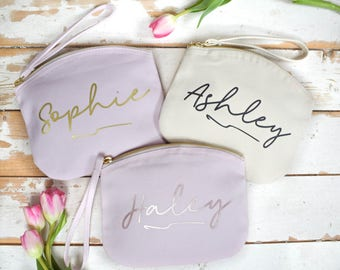 Personalised Gift for her - Personalised Make Up Bag - Christmas Gift for Her - Wedding Gift - Secret Santa - Bridesmaid Gift - Custom Bag