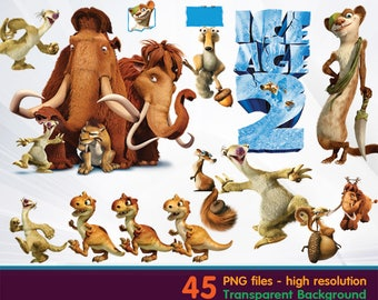 Ice age clipart -  dinosaur clipart Digital 300 DPI PNG Images, Photos, Scrapbook, Cliparts - Instant Download