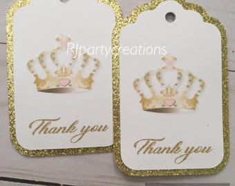 12 Crown Thank you tags