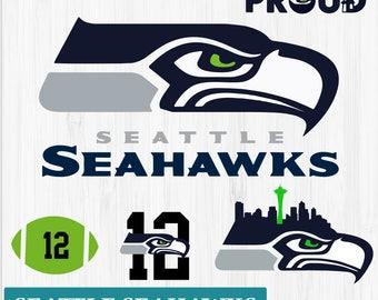 INSTANT DOWNLOAD_Seattle Seahawks SVG, Seattle Football Clipart, Seattle Seahawks Monogram, Seattle Silhouette, Screen Printing