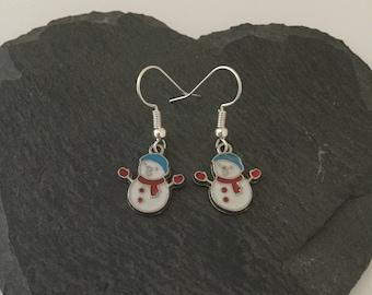 Cute snowman earrings / snowman jewellery / Christmas earrings / Christmas jewellery / Christmas gift