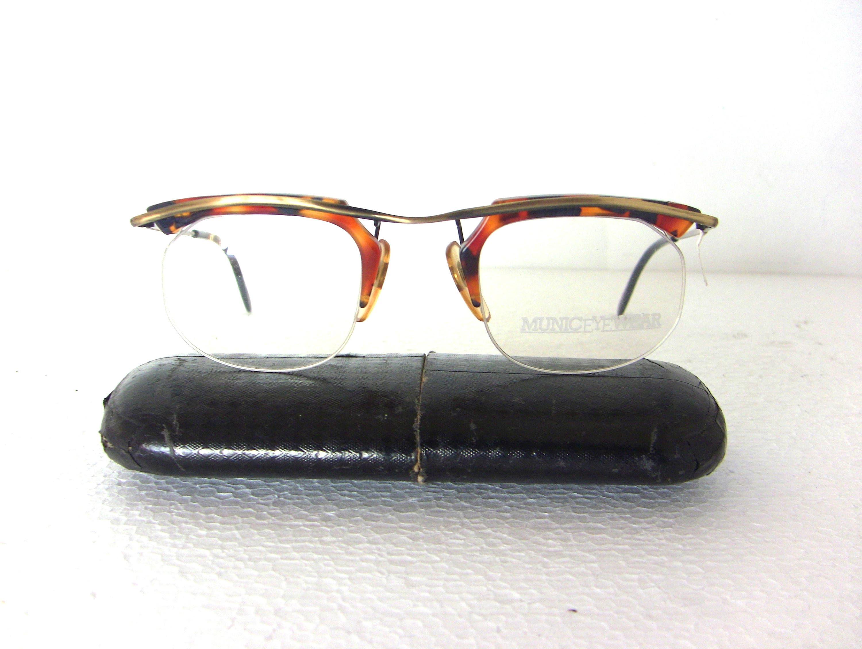 München-Brillen 90er Brille Browline Maroon Amber Tortoise
