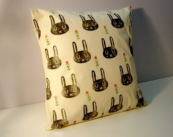 Rabbits Pillow Cover
