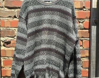 100% New Zealand Merino Wool Striped Jumper Size 26